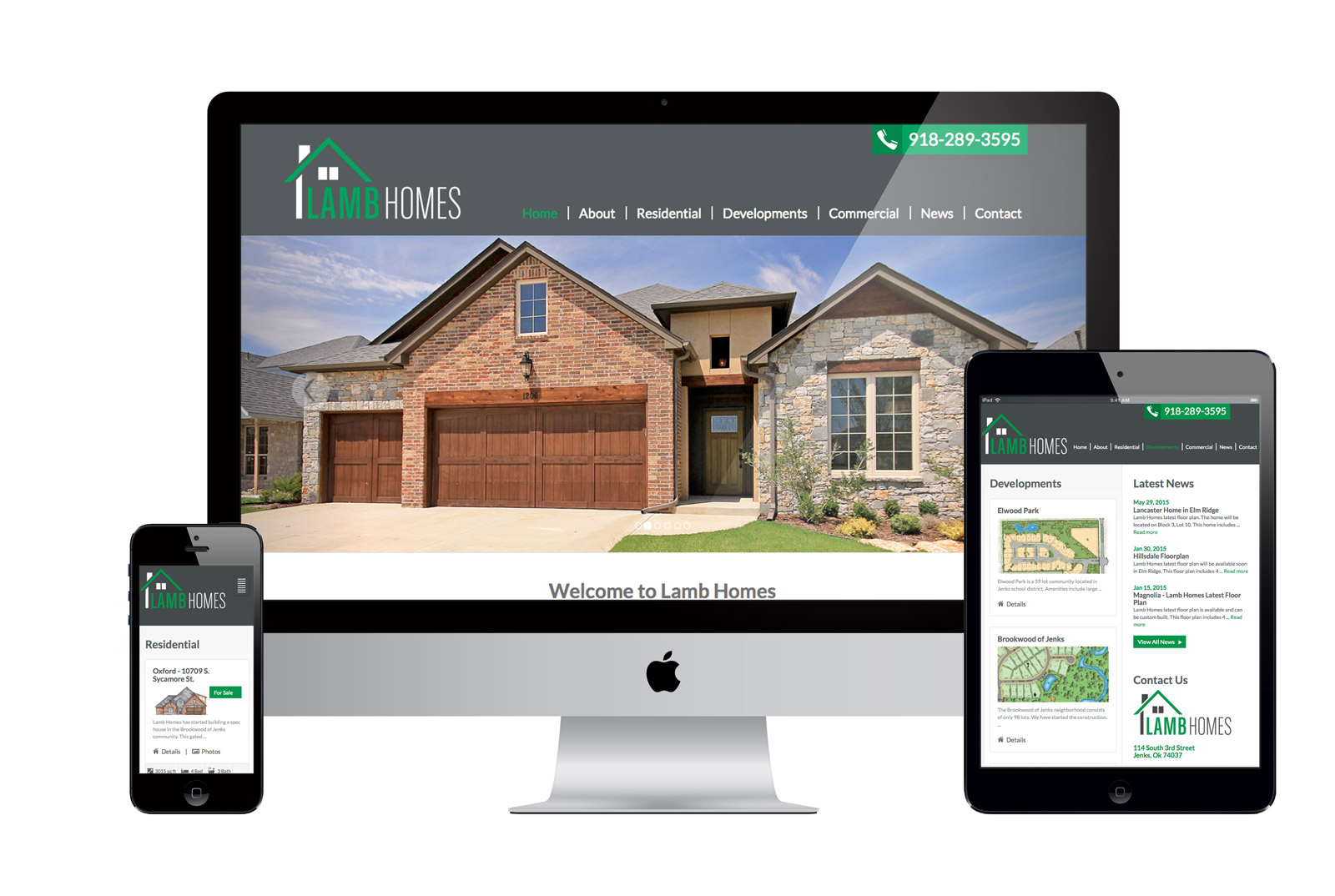 Responsive Website for Lamb Homes