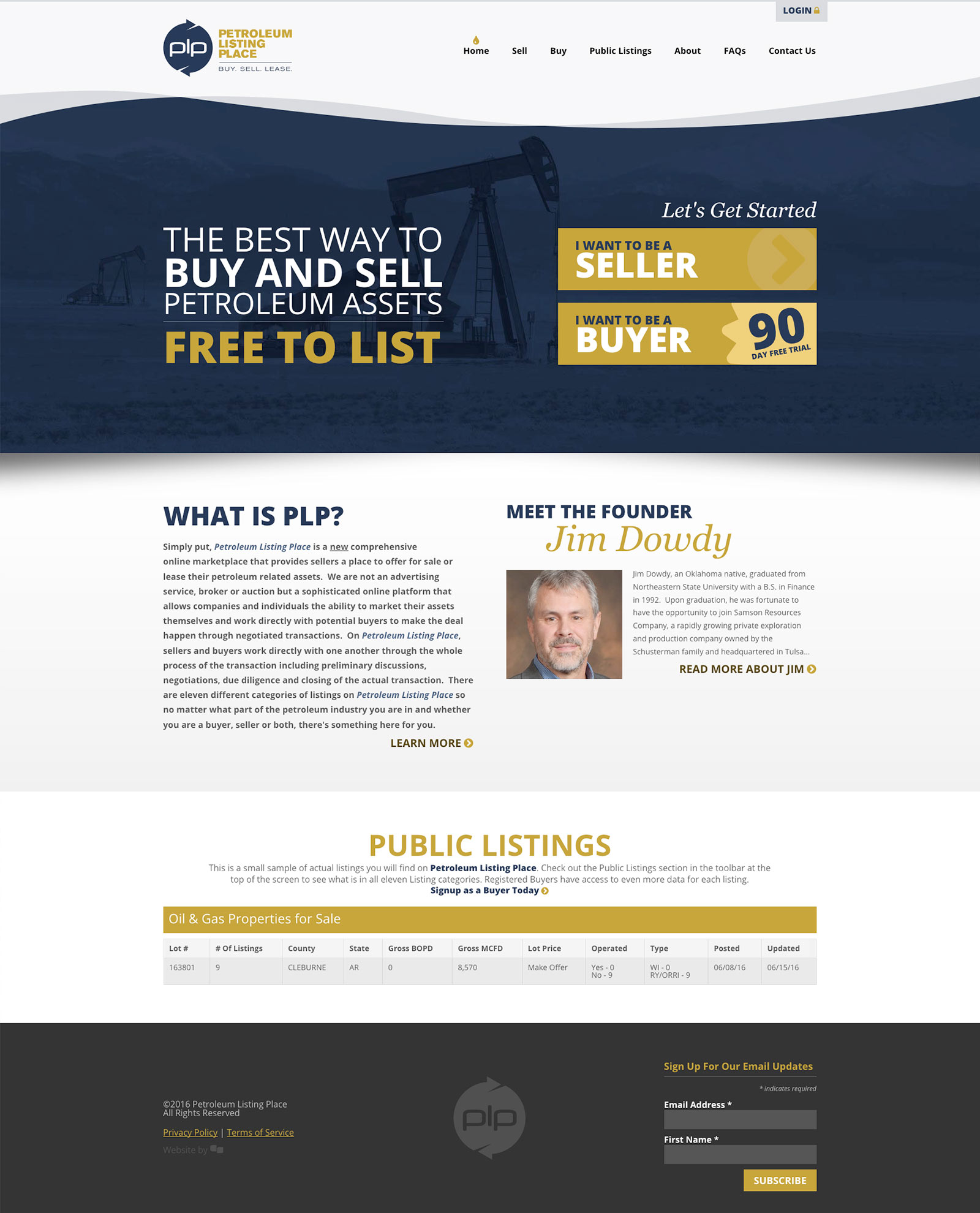 Petroleum Listing Place Responsive Website by Creative State