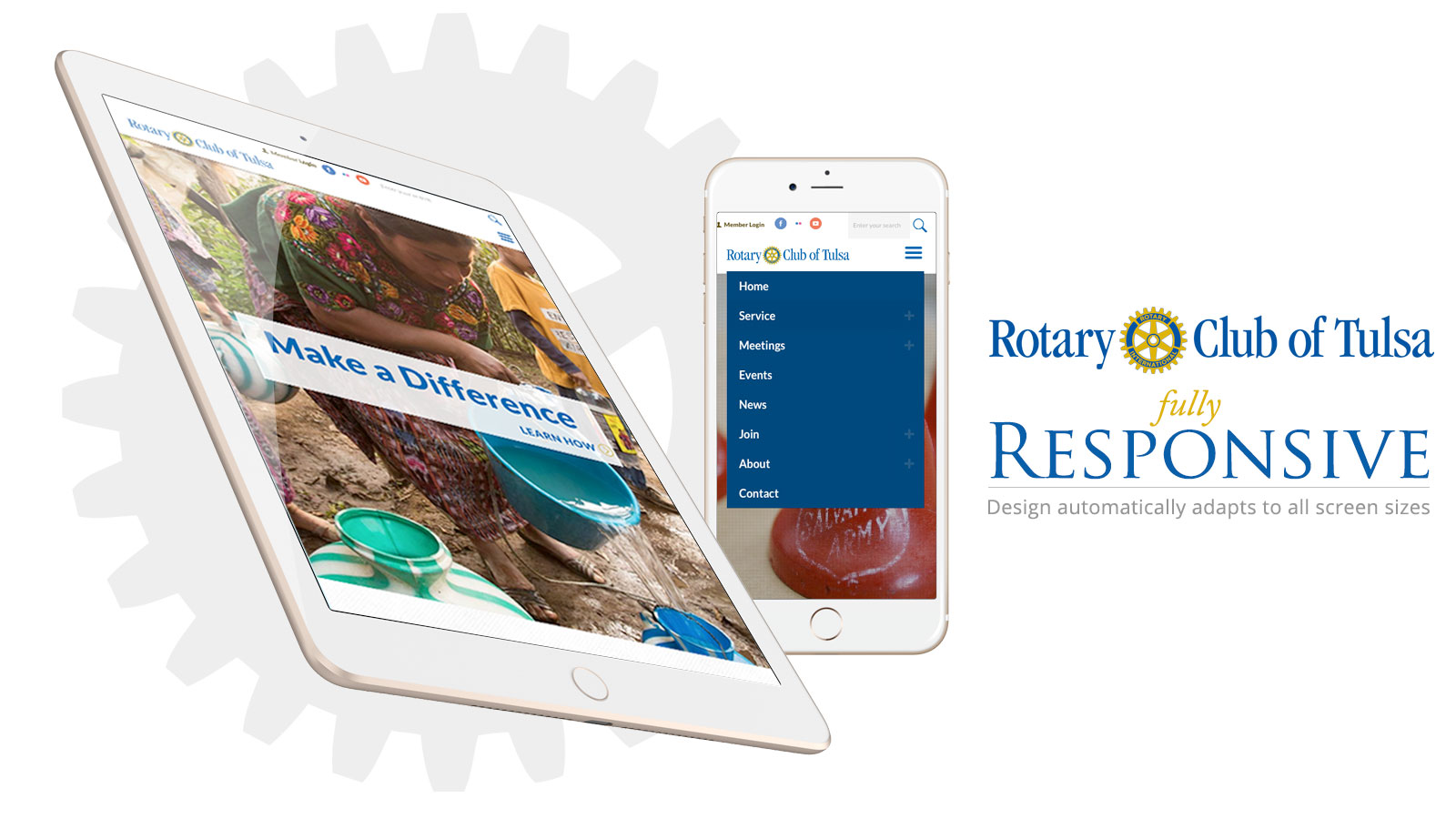 Responsive Website for Rotary Club of Tulsa by Creative State