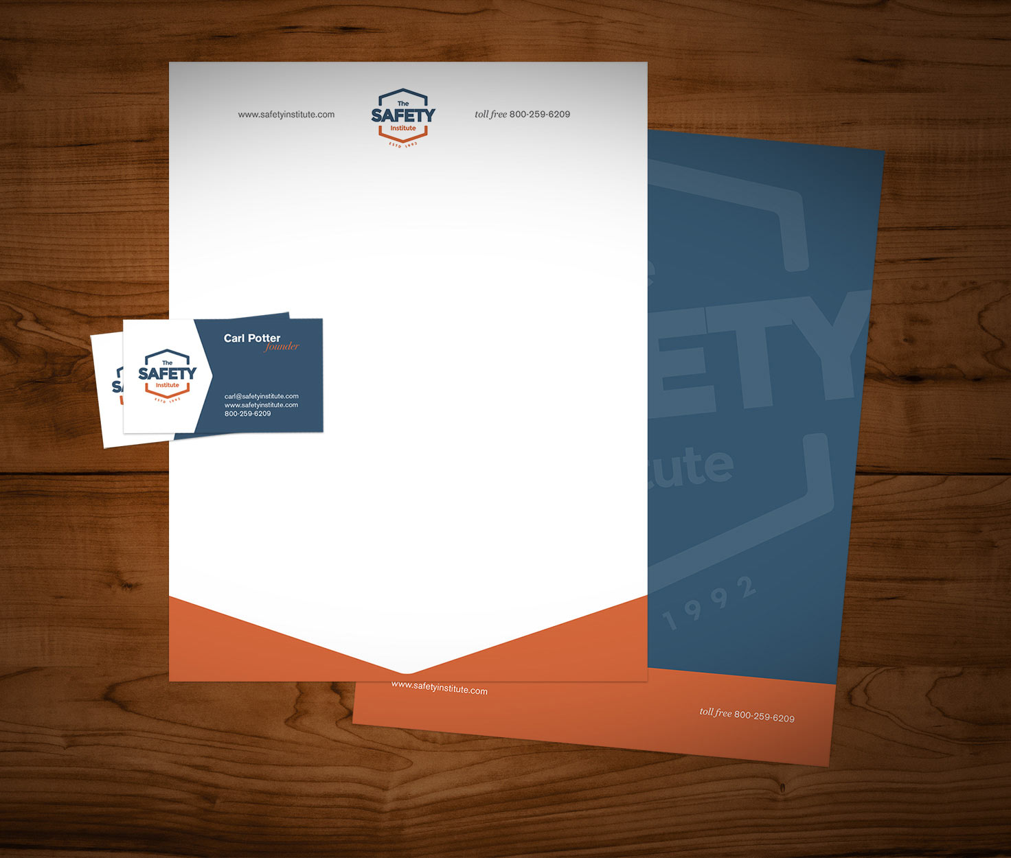 The Safety Institute Letterhead and Business Card Design